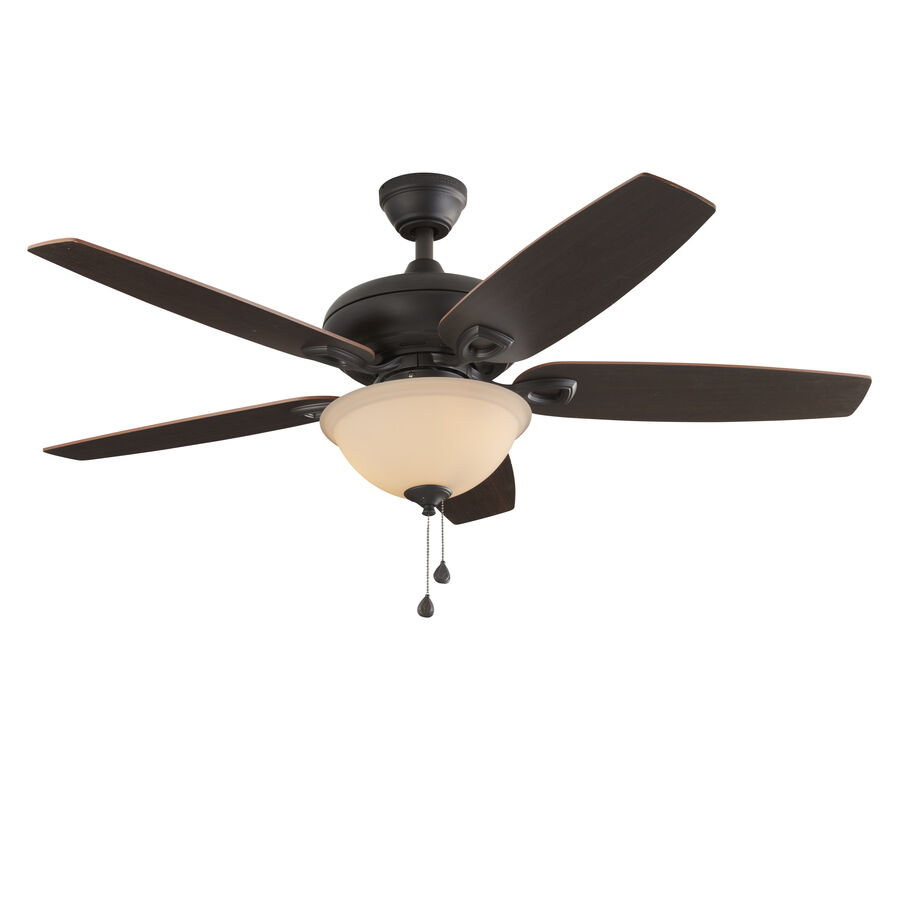 52 In Bronze Downrod Or Close Mount Indoor Ceiling Fan