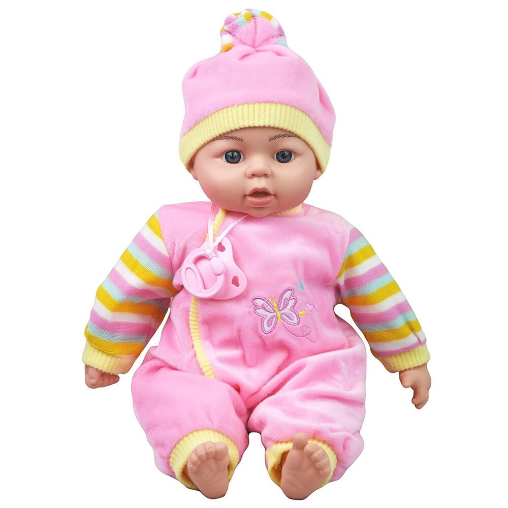 Toy Baby Doll : Quot new born soft bodied baby doll toy with dummy
