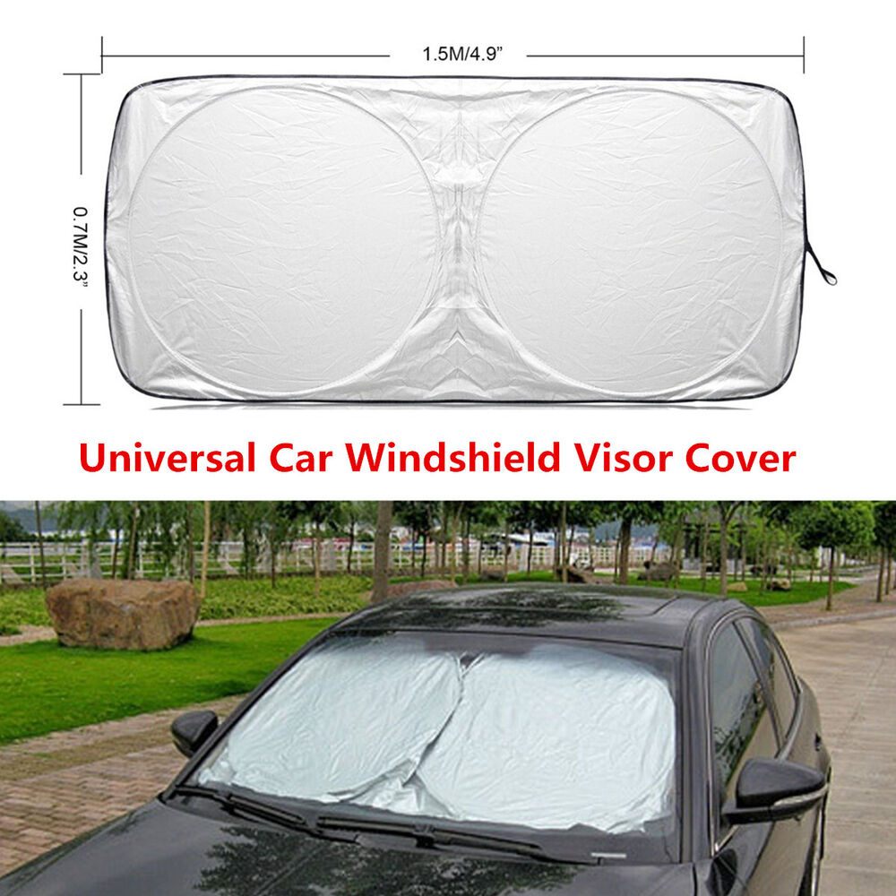 Details about Car Auto Front Windows Protection Windshield Cover UV Sun  Visor Shade 150 70cm 51a76a4d5be