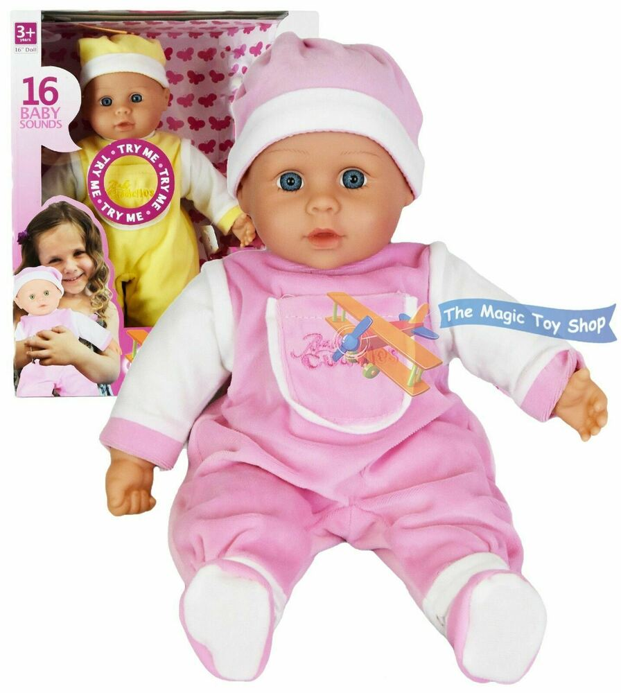 16 Sounds Crying Laughing New Born Soft Bodied Baby Doll