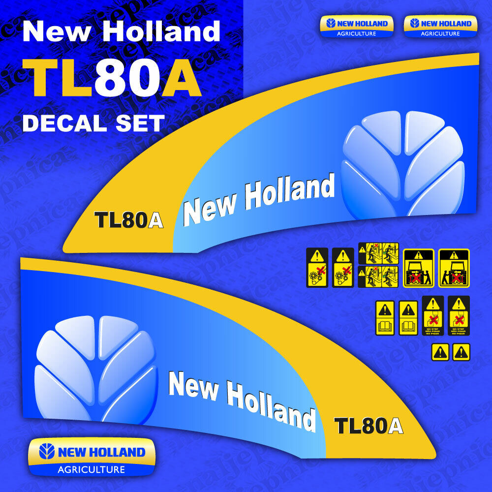 New Holland Ledger Plate : New holland tl a tractor decal aufkleber adesivo sticker