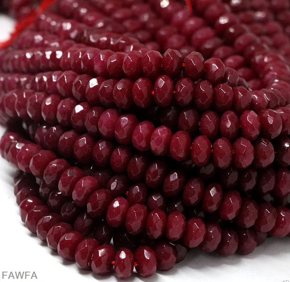 Red Ruby Beads: AAA 2x4mm Natural Faceted Brazil Red Ruby Gemstone