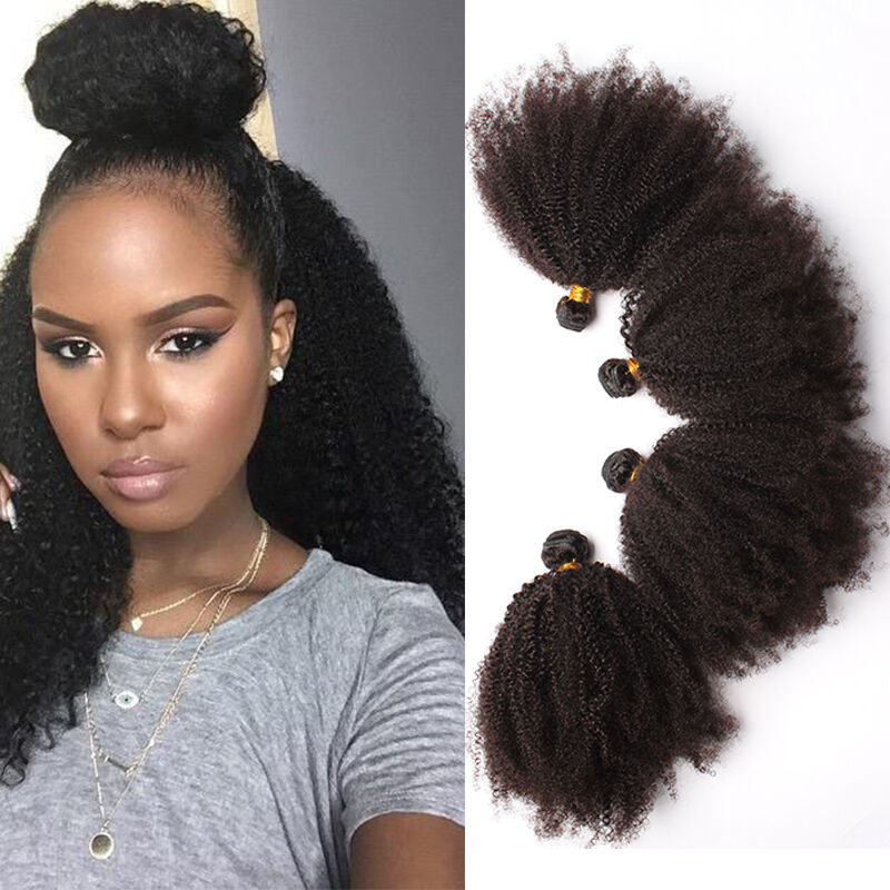 Kinky curly human hair extensions ebay mongolian 100virgin afro kinky curly hair weave brazilian human hair extensions pmusecretfo Gallery