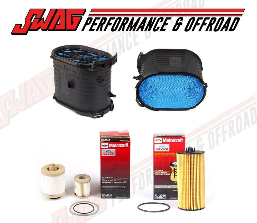 03-07 Ford 6.0 6.0L Powerstroke Diesel Truck Motorcraft Oil Air Fuel Filter  Kit | eBay