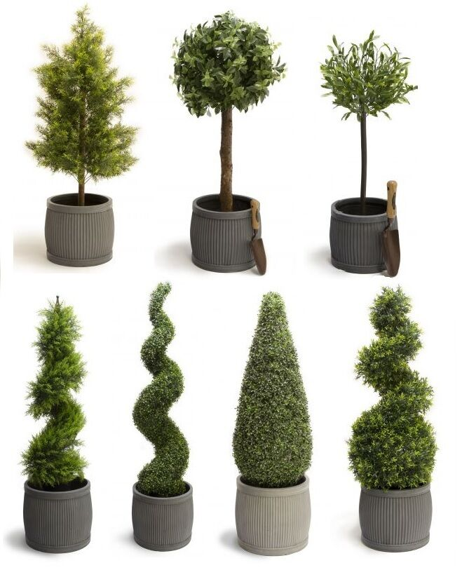 luxury artificial topiary trees cypress buxus swirl cone. Black Bedroom Furniture Sets. Home Design Ideas