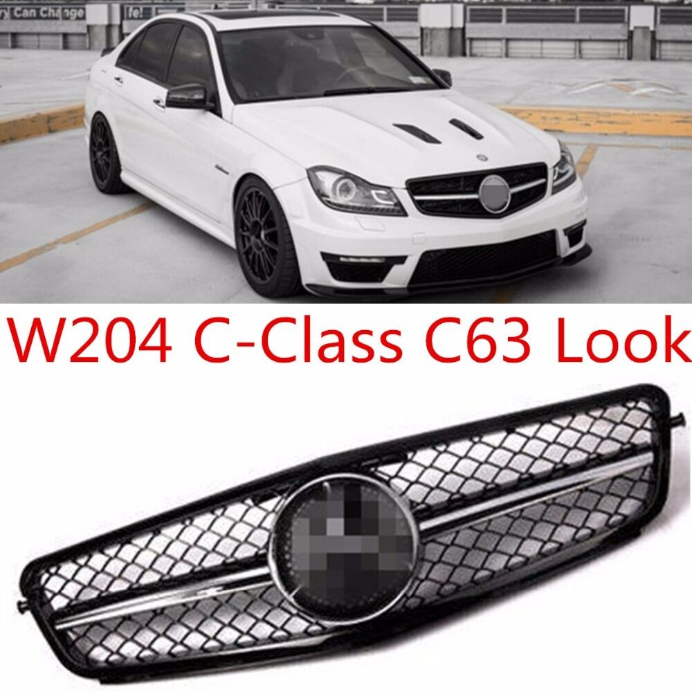 new mercedes benz c class w204 c63 style sports amg front. Black Bedroom Furniture Sets. Home Design Ideas