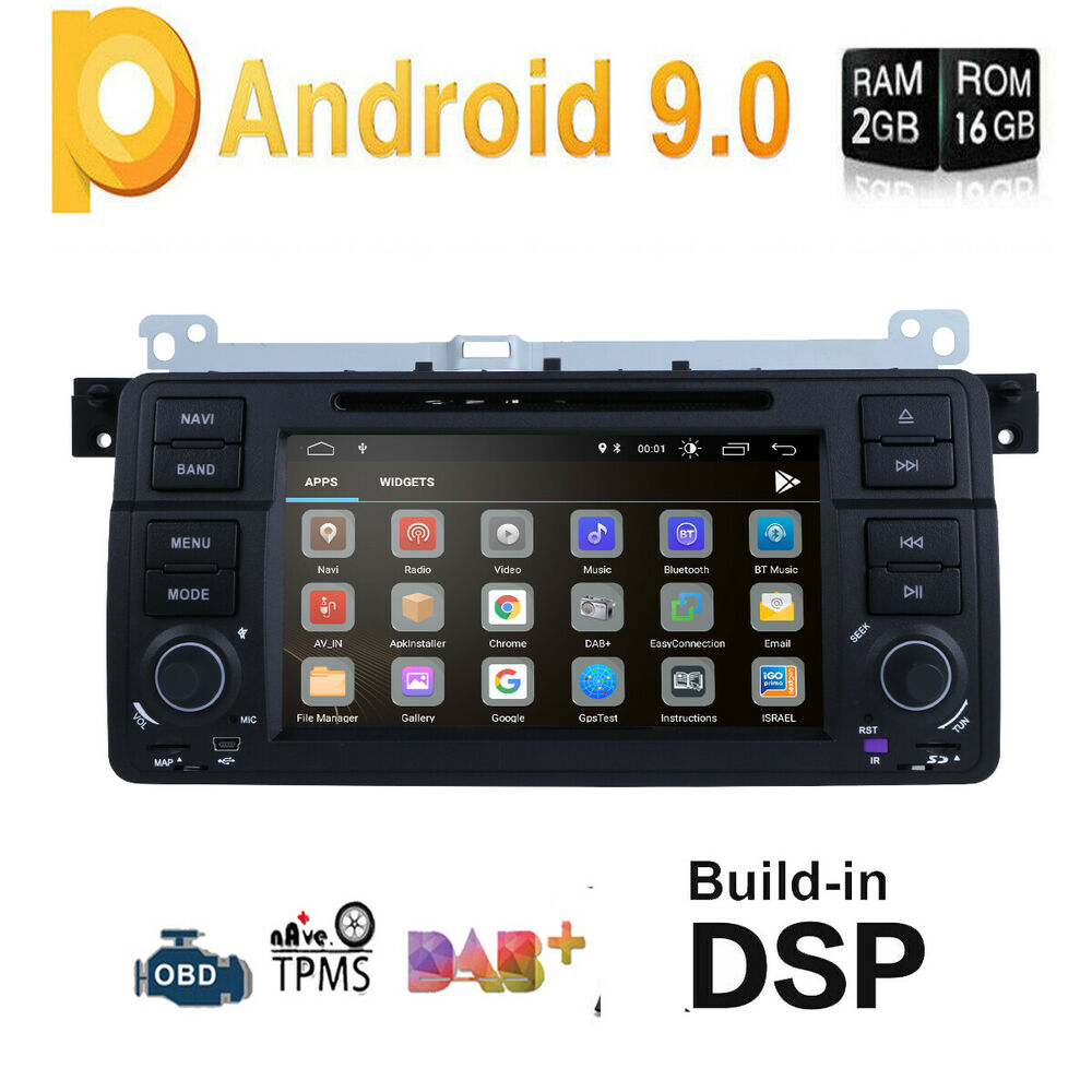 for bmw e46 320 325 7 gps android 7 1 car radio dvd. Black Bedroom Furniture Sets. Home Design Ideas