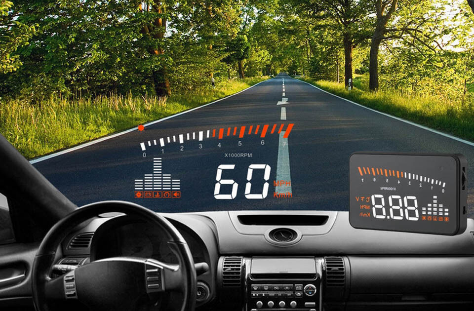 3 car hud head up display vehicle speedometer front windshield glass projector ebay. Black Bedroom Furniture Sets. Home Design Ideas