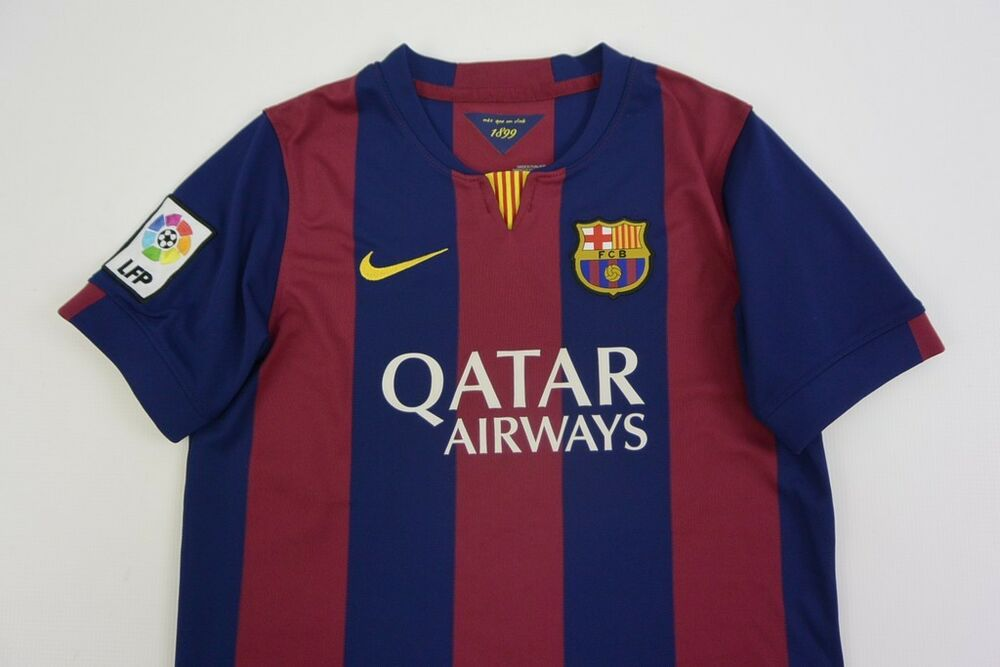 0dea3b090 ... canada nike fc barcelona 2014 2015 barca home shirt jersey youth 12 13y  l.boys