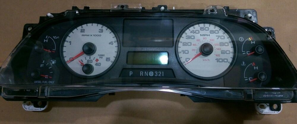 2007 ford f250 instrument cluster removal