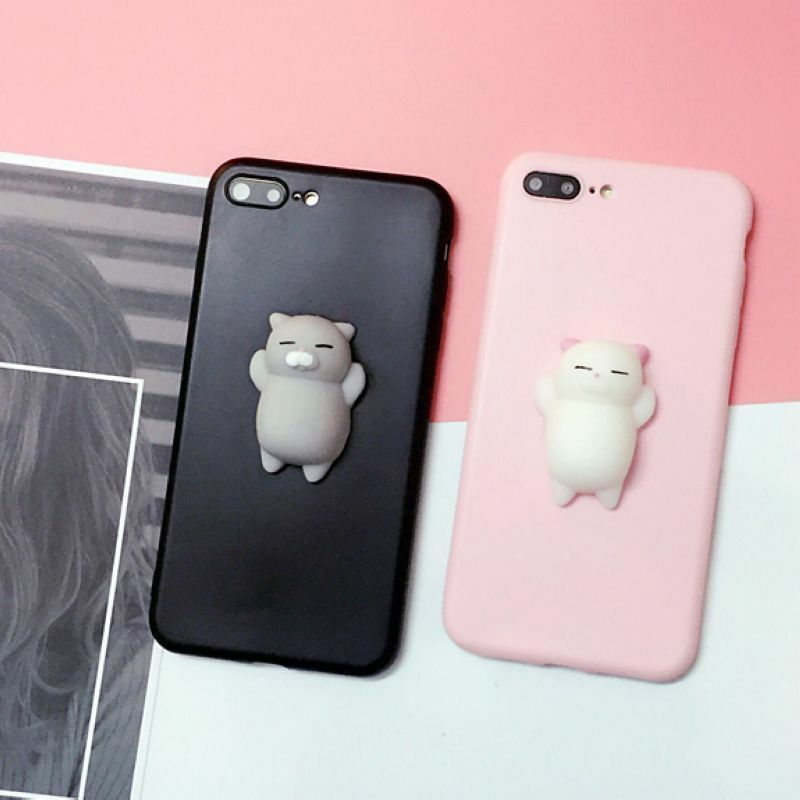 Squishy Cat Phone Case Iphone Se : Squishy 3D Anti Stress Lazy Kitty Cat Soft Phone Case Cover For Samsung & Apple eBay