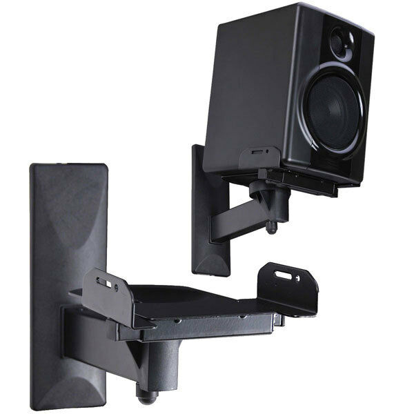 2 X Speaker Wall Mount Bracket Tilt Side Clamping Large