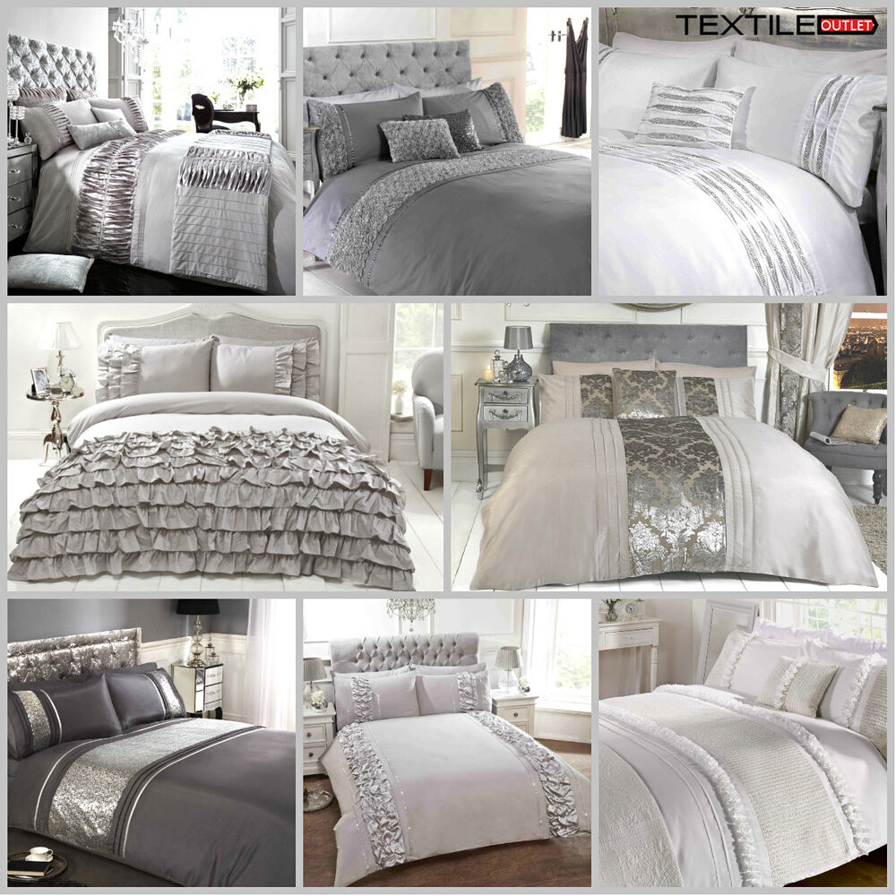 luxury duvet cover sets with pillow cases king size double. Black Bedroom Furniture Sets. Home Design Ideas