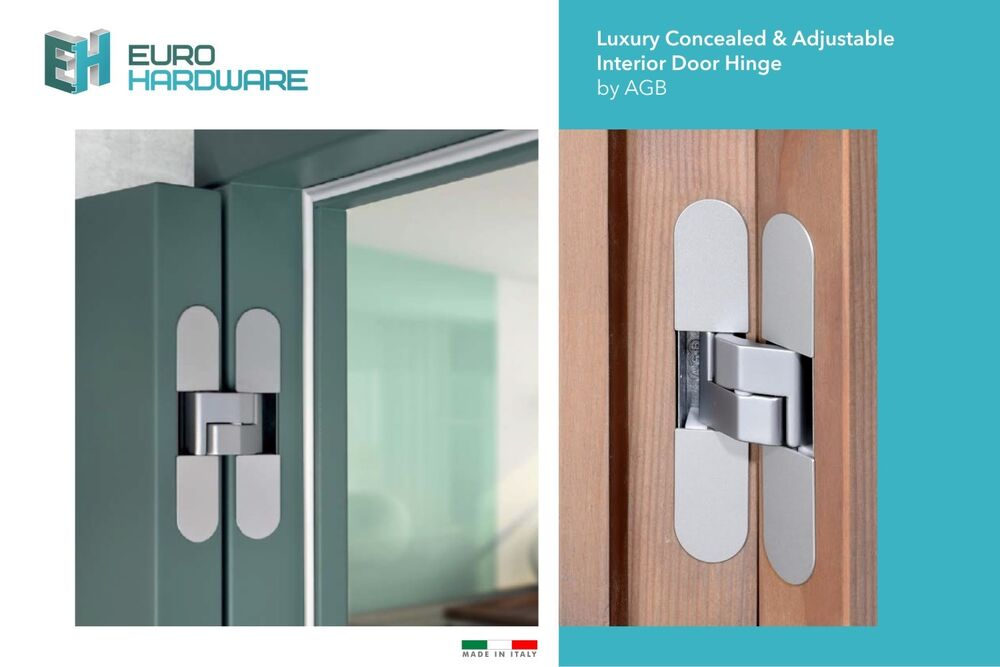 Luxury Concealed/Invisible Adjustable Interior Door Hinge By AGB | EBay