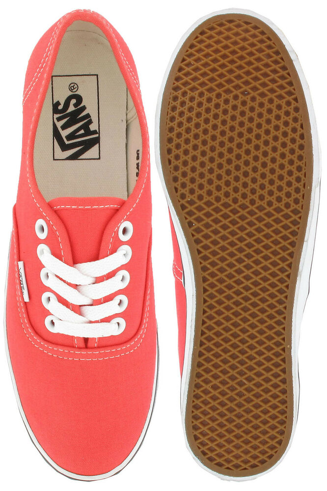 46dabffe67 Details about VANS AUTHENTIC LO PRO HOT CORAL   TRUE WHITE Men 7.5 Women 9.0