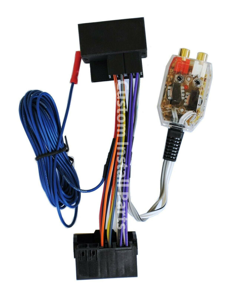 Factory Radio Add A Amp Amplifier Sub Interface Wire Harness Inline Volkswagen Vw Touareg Central Wiring Single Parts Converter 705353491139 Ebay