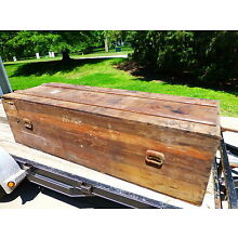 Vintage 1940's Shipping Crate Casket and Shipping Coffin