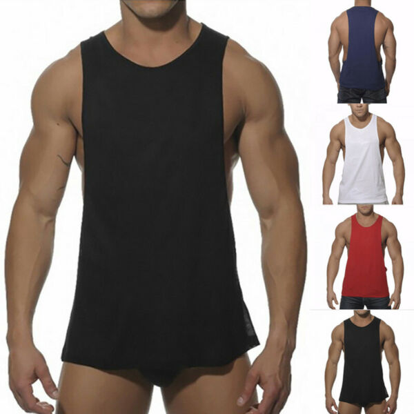 Men's Bodybuilding Tank Top Gym Fitness Singlet Sleeveless Muscle Vest Workout