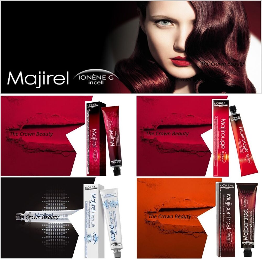 Majirel hair color ebay loreal majirel majirouge majicontrast high lift permanent profesional hair color geenschuldenfo Images