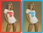 Vintage Swap/Playing Cards - 2 SINGLE- ADVERTS WITH 70'S STYLE PINUPS