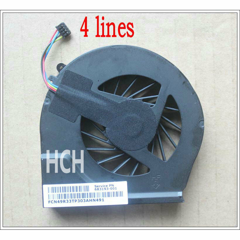 NEW For HP Pavilion 680551-001 CPU cooling fan 4 wires 661021872696 ...