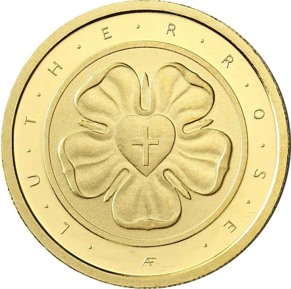 Deutschland 50 Euro Lutherrose Gold 2017 Reformation Martin Luther