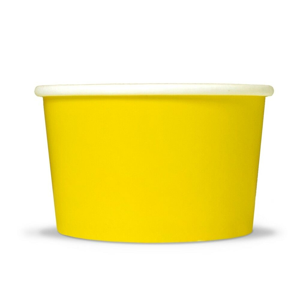 Yellow Ice Cream Paper Cup 6 Oz Disposable Birthday Party Cups