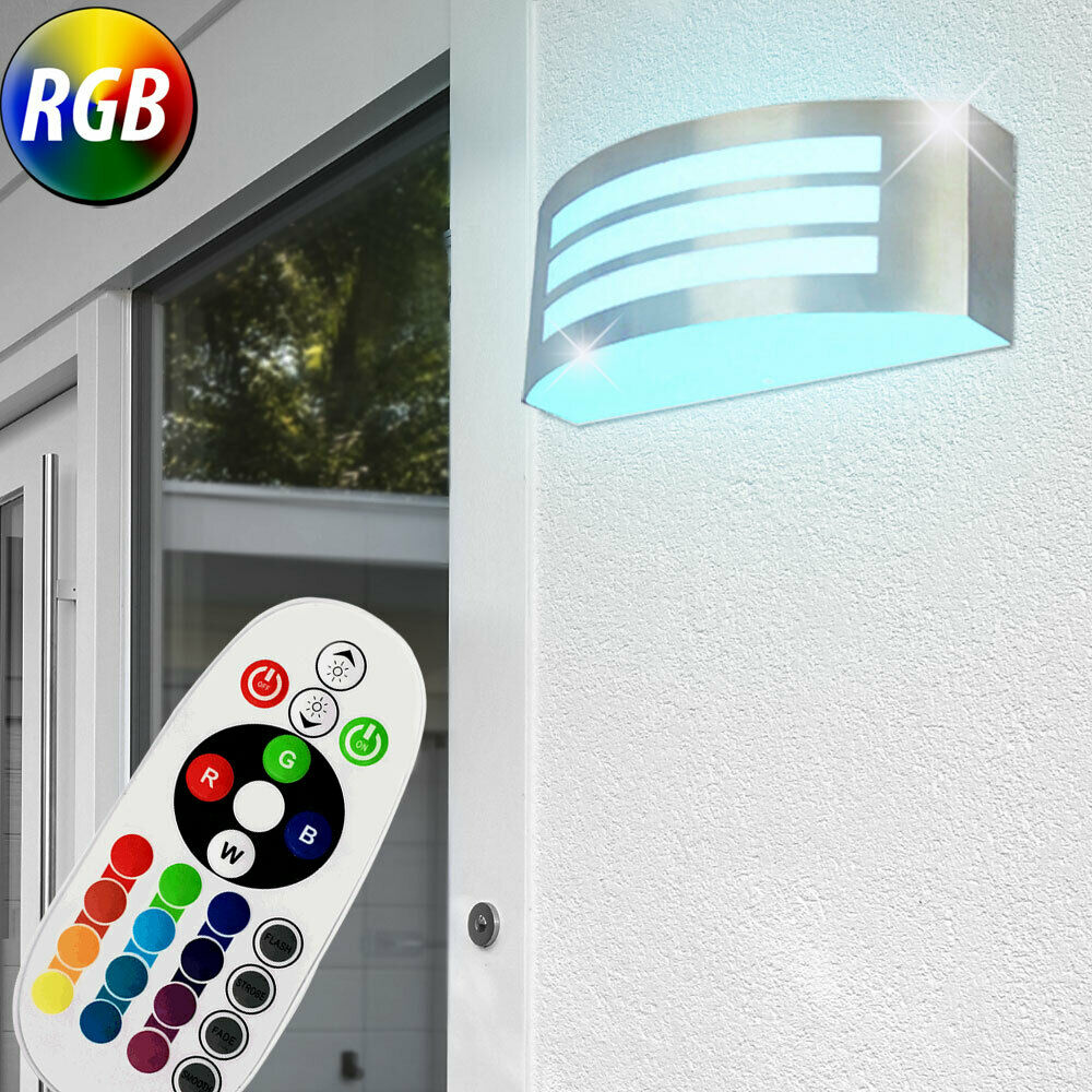 led wand leuchte balkon au en lampe dimmbar rgb fernbedienung beleuchtung eek a ebay. Black Bedroom Furniture Sets. Home Design Ideas