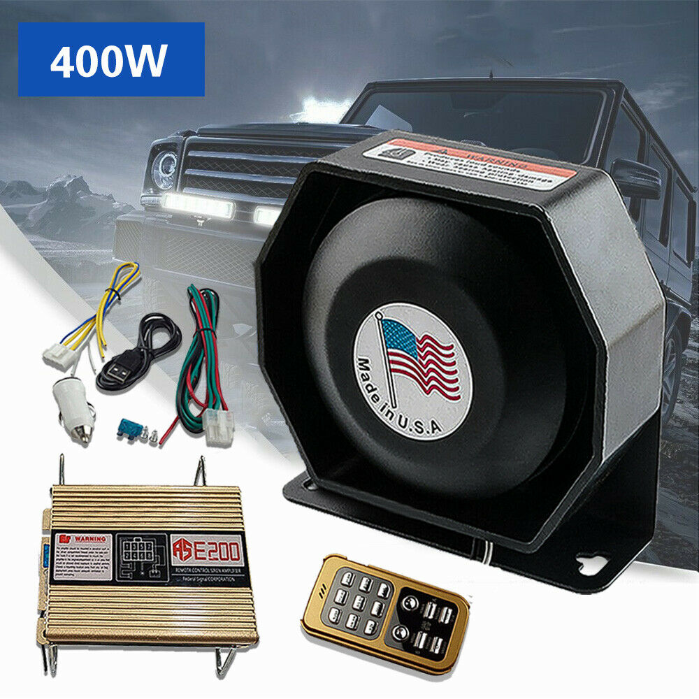 200w police fire siren horn loud speaker car safety warning alarm pa system kit ebay. Black Bedroom Furniture Sets. Home Design Ideas