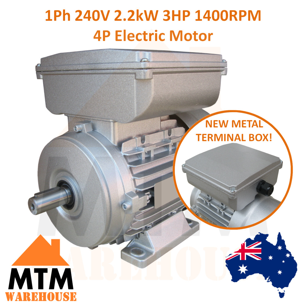 Single Phase Electric Motor 240v 2 2 Kw 3 Hp 1400rpm 4 Pole