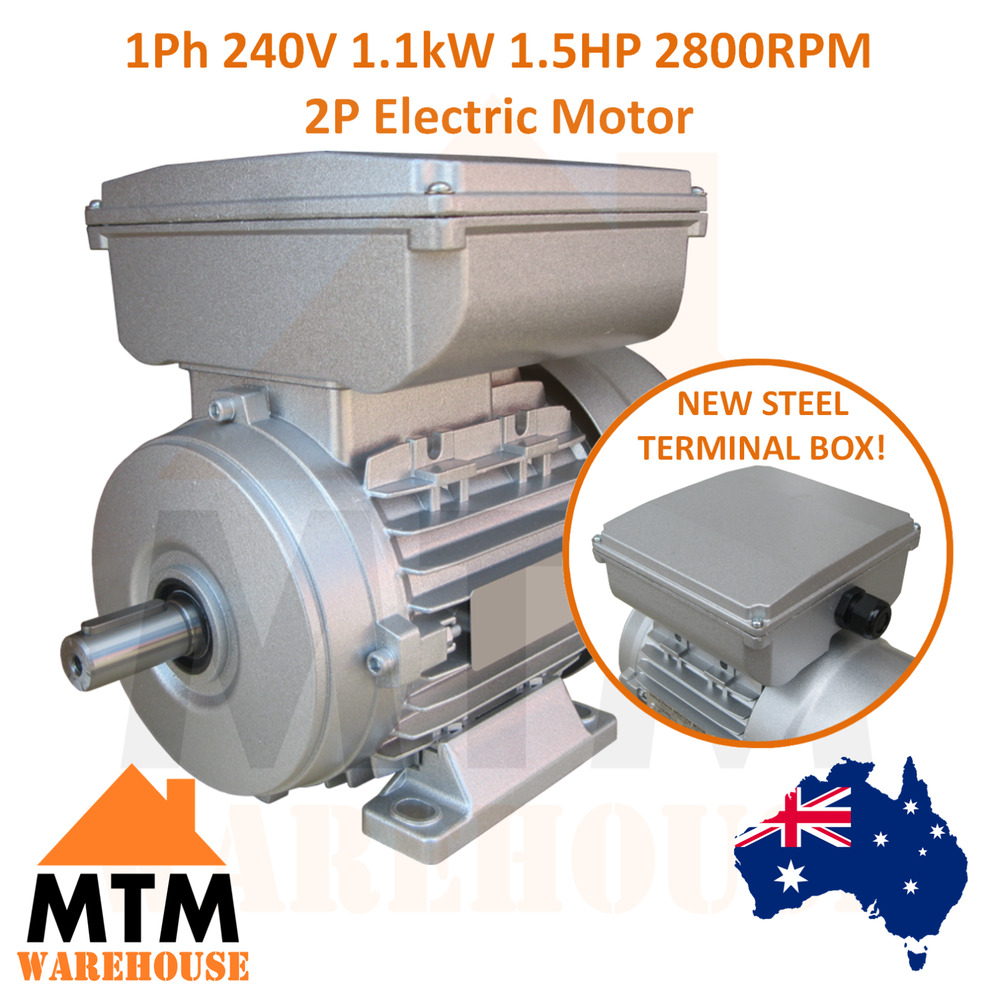 Single Phase Electric Motor 240v 11 Kw 15 Hp 2800rpm 2 Pole Ebay Variable Speed Wiring Diagram