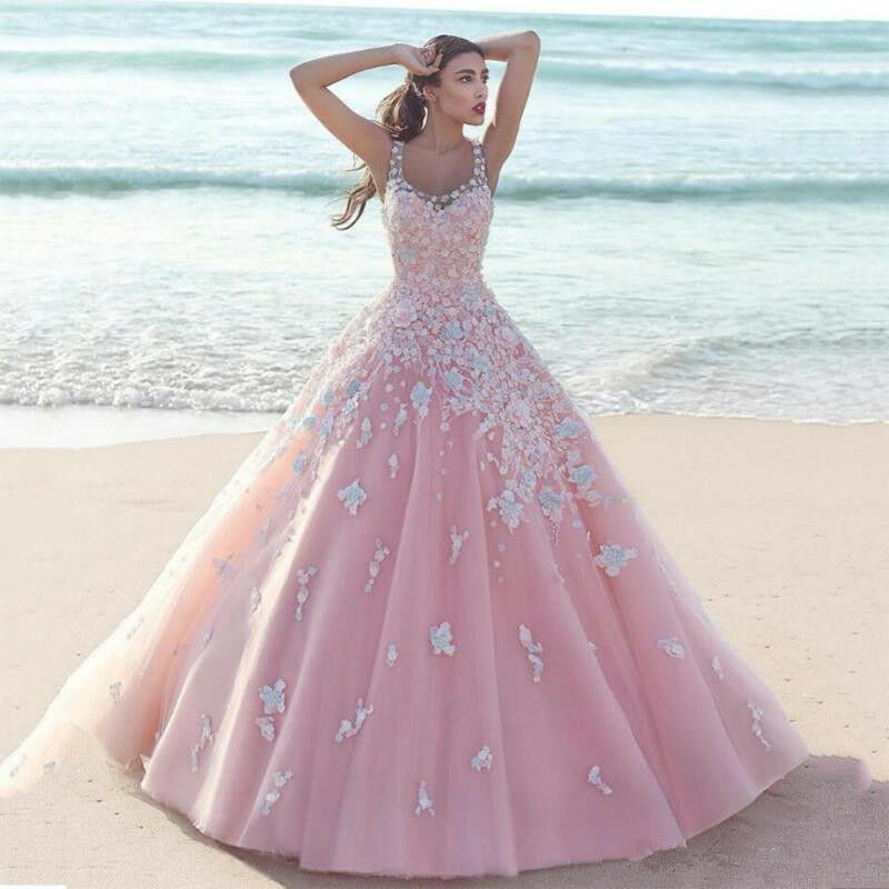 aed68d52 Details about Pink Ball Gown Quinceanera Dress Prom Dress Sweet 16 Dresses  Formal Party Gown