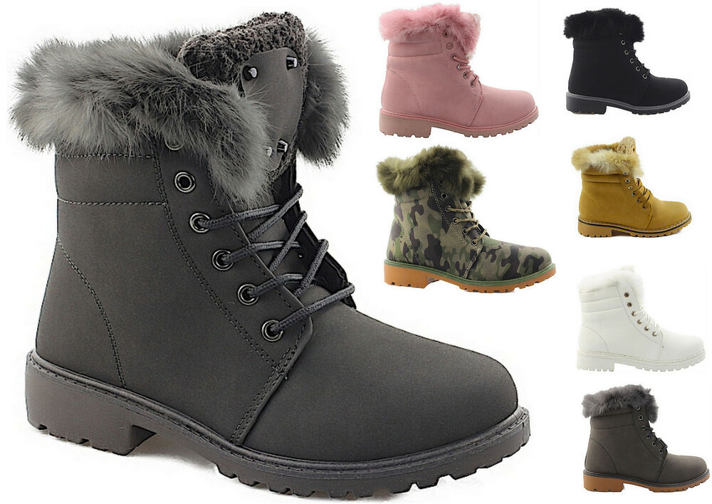 damen winterschuhe boots damenschuhe stiefelette outdoor schuhe innen gef ttert ebay. Black Bedroom Furniture Sets. Home Design Ideas