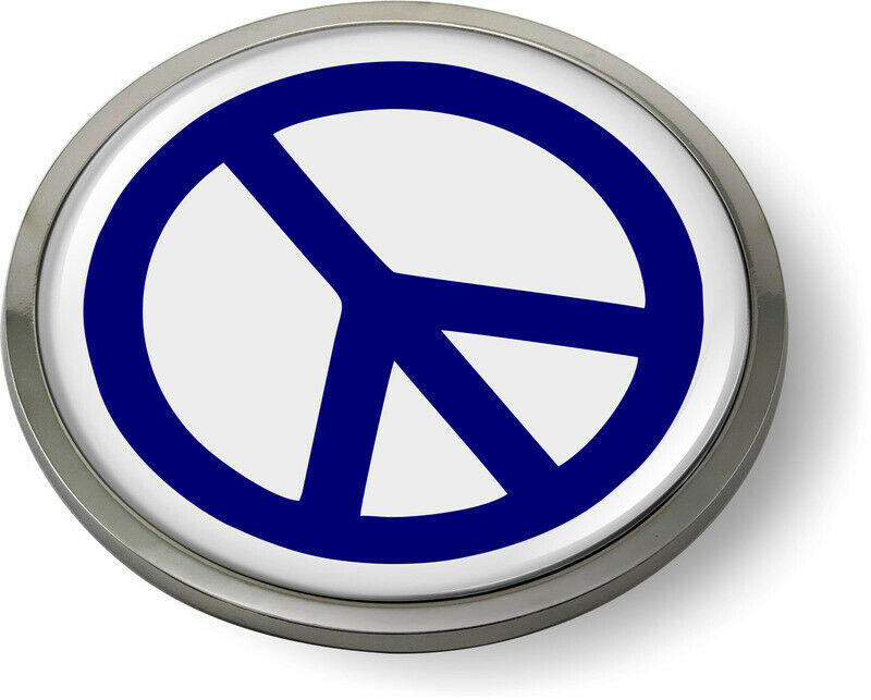PEACE SIGN 3D Domed Emblem Badge Car Sticker Chrome ROUND