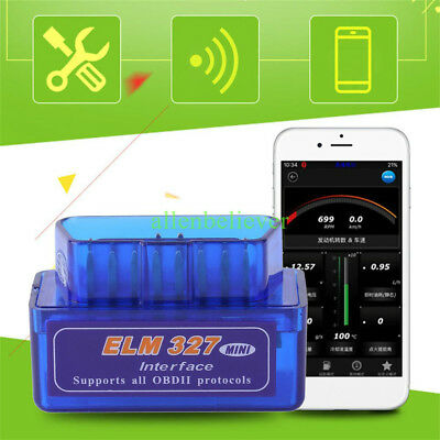 SUPER Mini Bluetooth Android OBD2 OBDII ELM327 v2.1 Adapter Auto Scanner Torque