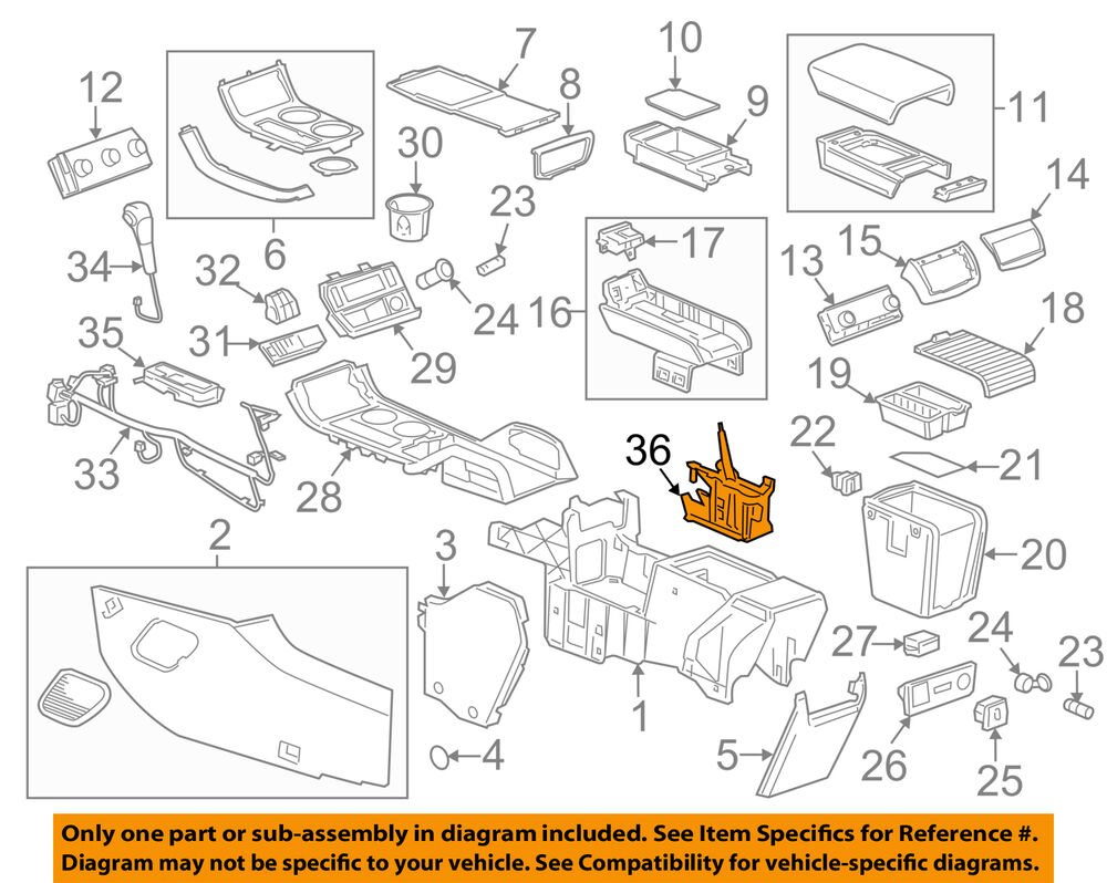 Boat Center Console Shifter Wiring Diagram Posts Gm Oem Assembly 20981588 Ebay For A Pontoon