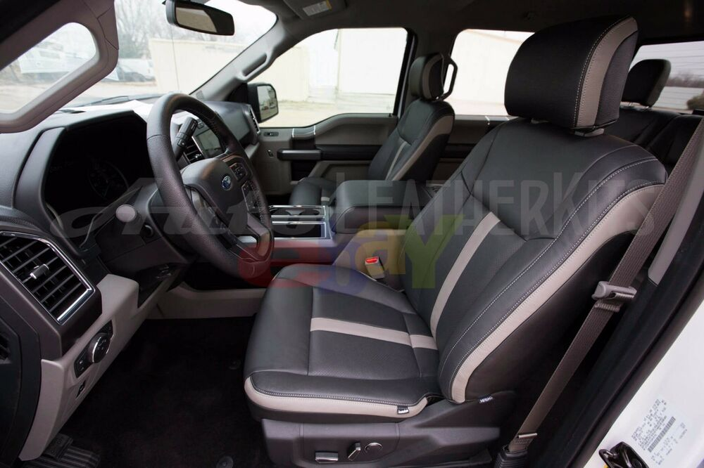 2015 2017 ford f 150 supercrew xlt katzkin leather interior seat covers new ebay. Black Bedroom Furniture Sets. Home Design Ideas