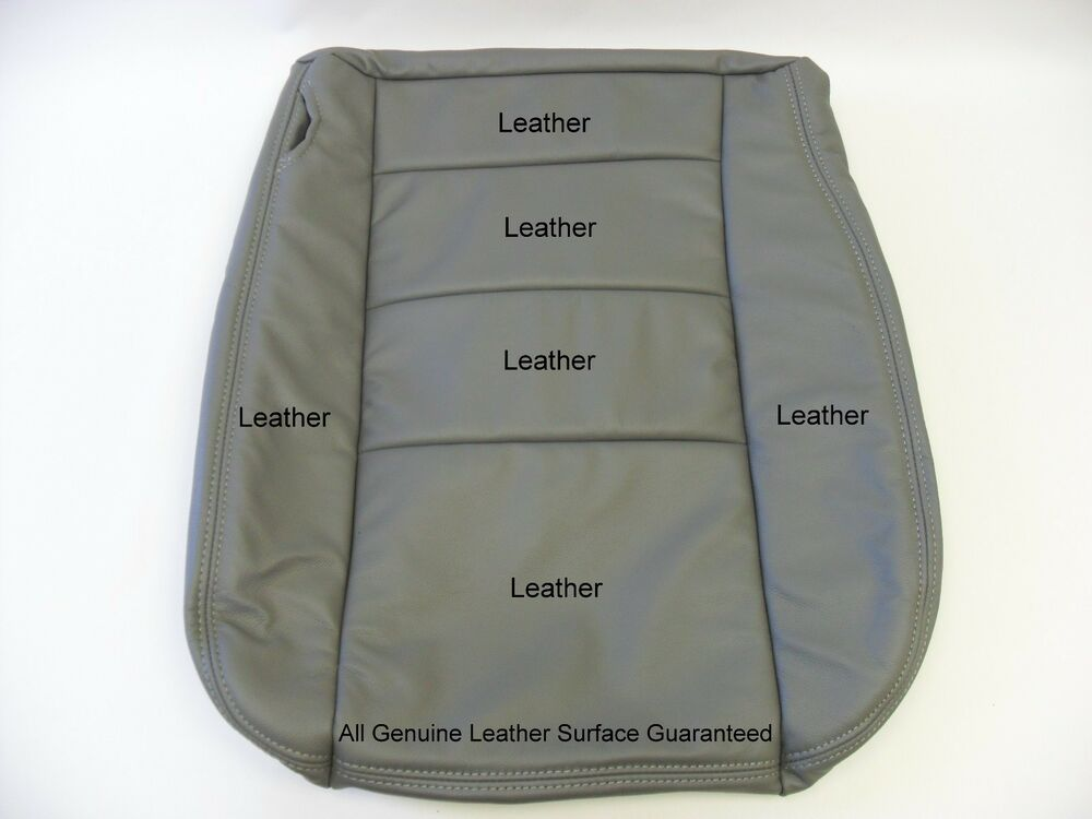 2003 Ford F250 F350 Lariat Bottom Leather Seat Cover Gray Ebay