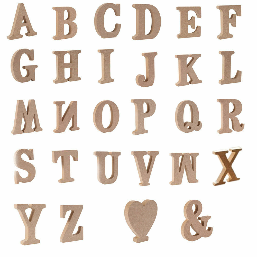 Lots Large A-Z Wooden Letters Alphabet Wall Hanging ...