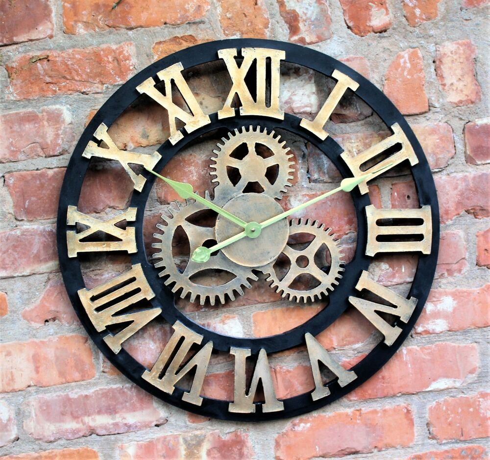 Large Outdoor Garden Wall Clock Roman Numerals Giant