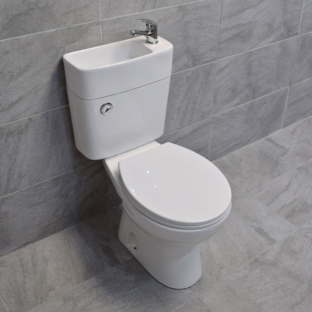 Duo Toilet Basin Combo Combined Toilet with Sink Tap Space ...