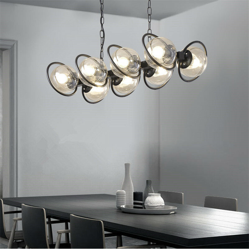 Large Chandelier Lighting Glass Pendant Light Kitchen Lamp