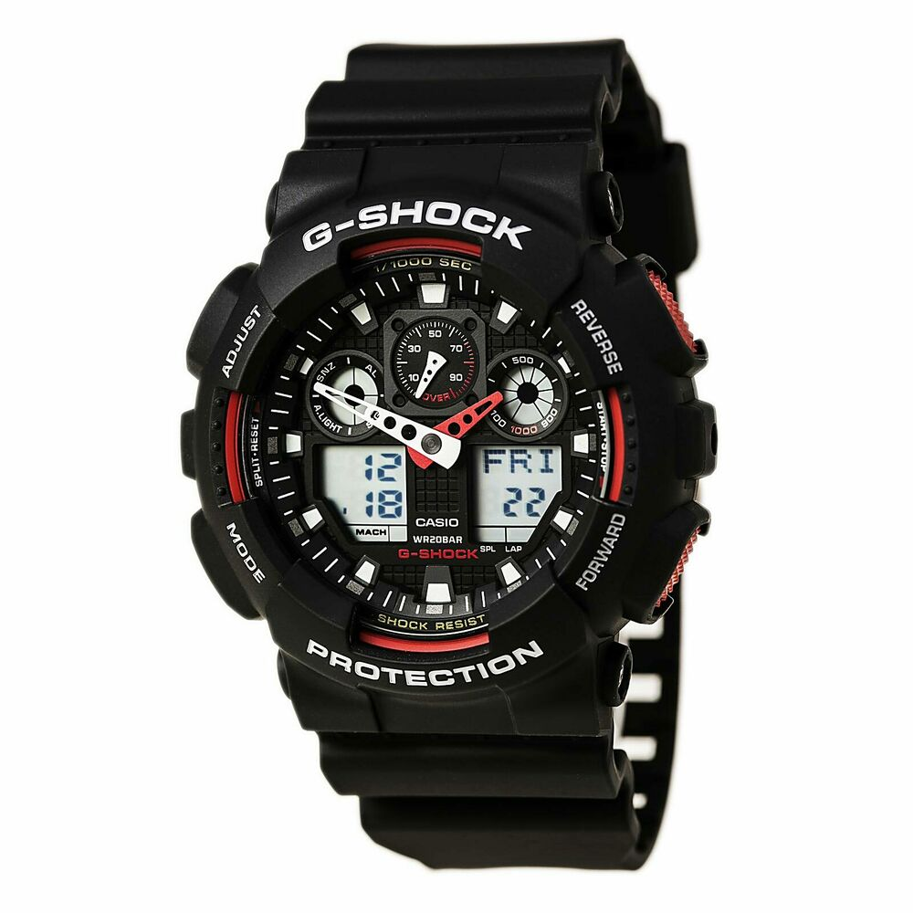 3affea76c21 Casio GA100-1A4 Men s G-Shock Anti-Magnetic X-Large G Anti-Magnetic Dive  Watch