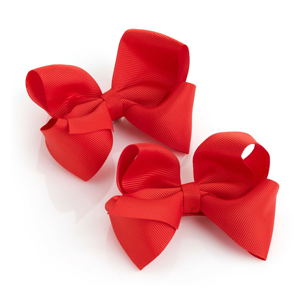 3cd1ae43b 2 Pack Red Hair Bow Girls Clips School Ribbon 4