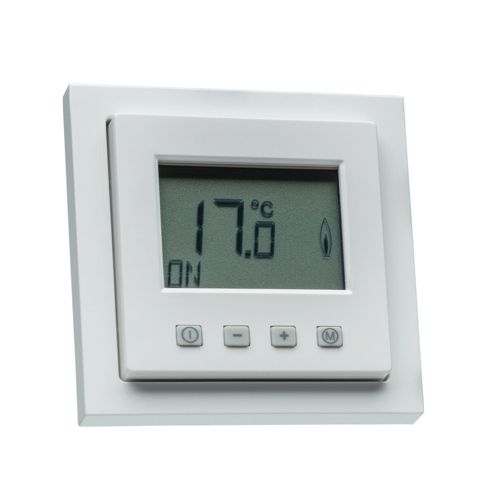 digital raumthermostat mit busch j ger future linear rahmen f r fu bodenheizung ebay. Black Bedroom Furniture Sets. Home Design Ideas