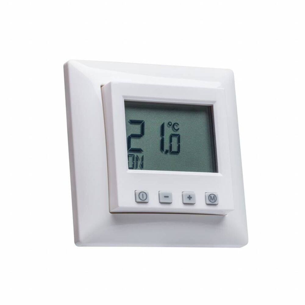 digital raumthermostat mit busch j ger balance si rahmen f r fu bodenheizung ebay. Black Bedroom Furniture Sets. Home Design Ideas
