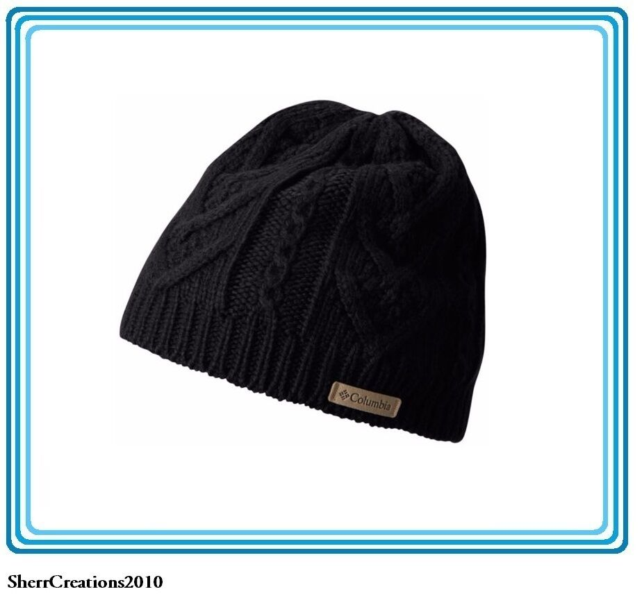 Details about NWT COLUMBIA Unisex Parallel Peak ll Beanie Omni-Heat Thermal  Hat Black cd524bbb2e9