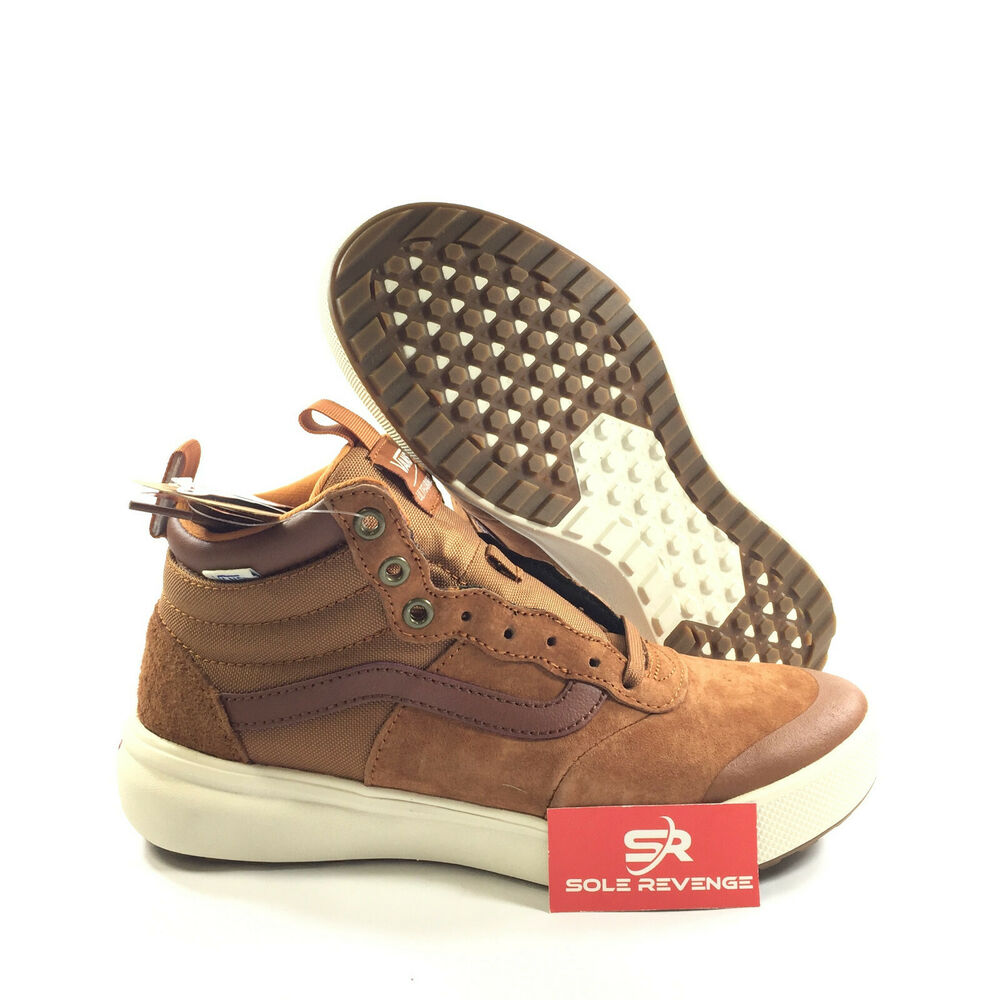 Details about New Vans ULTRARANGE HI MTE Glazed Ginger Brown White A3JESDX3 Sneakers Shoes z1