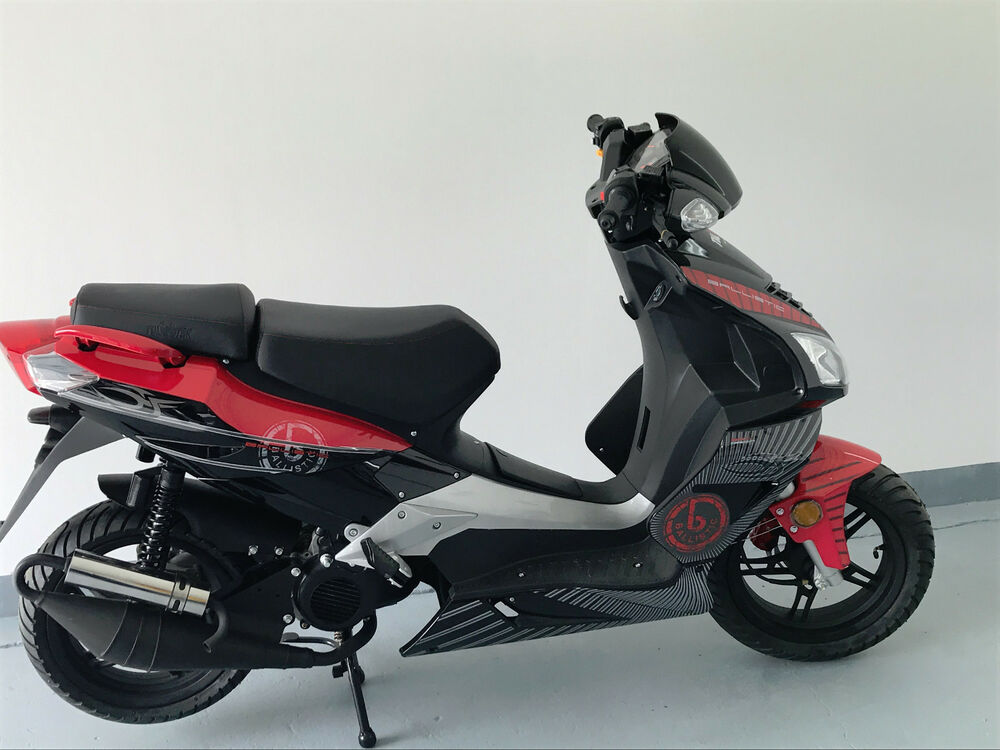 motor roller 50ccm mofa scooter 45km h 2takter ebay. Black Bedroom Furniture Sets. Home Design Ideas