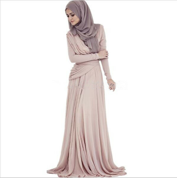 f41b54611ed Details about Arabic Hijab Evening Dresses Long Sleeves Muslim Prom Dresses  Formal Women Gown